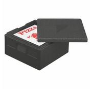 PAPSTAR Transportboxen, EPP 41 cm x 41 cm x 24 cm zwart 'Pizza'