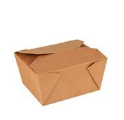 Pure Kartonnen lunchboxen 'pure' 750 ml 6,3 cm x 9 cm x 11,3 cm bruin