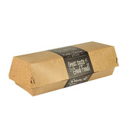 PAPSTAR Baguettebox,karton van verse houtvezels 'pure' 6,2 cm x 7,5 cm x 21 cm 'Good Food'