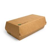 100% Fair Baguettebox van bruin karton, 100% FAIR | 7,5cm x 10,7cm x 22cm