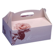 PAPSTAR Gebakdozen plein 26 cm x 22 cm x 9 cm rose met handvaten