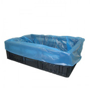 Vlakke zakken, Blauw HDPE | 68/17x63cm - 10my