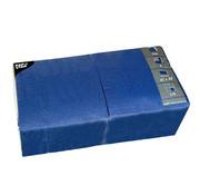 PAPSTAR Servetten, 3-laags 1/4 vouw 40 cm x 40 cm donkerblauw