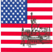 PAPSTAR Servetten, 3-laags 1/4 vouw 33 cm x 33 cm 'Amerika'