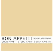 PAPSTAR Servetten, 3-laags 1/4 vouw 33 cm x 33 cm creme 'Bon Appetit'