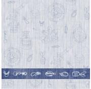 PAPSTAR Servetten 'ROYAL Collection' 1/4 vouw 40 cm x 40 cm 'Nautica'