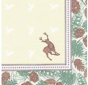 PAPSTAR Servetten 'ROYAL Collection' 1/4 vouw 40 cm x 40 cm 'Majestic Deer'