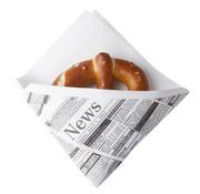 PAPSTAR Snack servetten met krantenprint, airlaid 1/4 vouw   32,5x30,5 cm