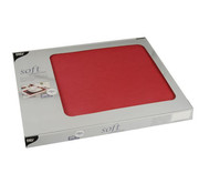 PAPSTAR Placemats, stofkarakter, nonwoven 'soft selection' 30 cm x 40 cm rood