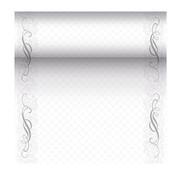 PAPSTAR Tafellopers, stofkarakter, PV-Tissue Mix 'ROYAL Collection' 24 m x 40 cm zilver 'Megan'