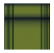 PAPSTAR Tafellopers, stofkarakter, PV-Tissue Mix 'ROYAL Collection' 24 m x 40 cm olijfgroen 'Haddon'