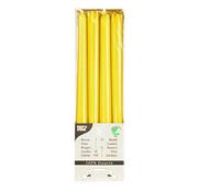 PAPSTAR Kandelaarkaarsen _ 2,2 cm x 25 cm geel van 100% stearine