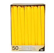 PAPSTAR Kandelaarkaarsen _ 2,2 cm x 25 cm geel