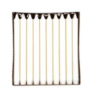 PAPSTAR Kroonkaarsen _ 2,3 cm x 24 cm wit van 100% stearine