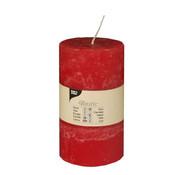 PAPSTAR Cylinderkaarsen _ 70 mm x 130 mm rood 'Rustiek' volledig gekleurd