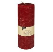 PAPSTAR Cylinderkaarsen _ 70 mm x 190 mm bordeaux 'Rustiek' volledig gekleurd