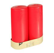 PAPSTAR Stompkaarsen _ 80 mm x 220 mm rood