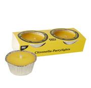 PAPSTAR Geurkaars _ 80 mm x 40 mm geel - Citronella