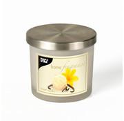 PAPSTAR Geurkaars in glas _ 84 mm x 75 mm creme - Sweet Vanilla matglanzend, met metalen deksel