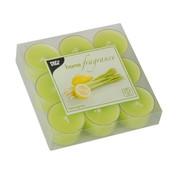 PAPSTAR Geurkaars _ 38 mm x 25 mm lichtgroen - Lemongrass in behuizing van polycarbonaat