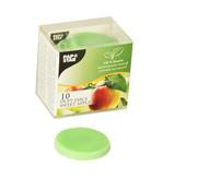 PAPSTAR Geurchips, Stearin _ 35 mm x 5 mm groen - Sweet Apple