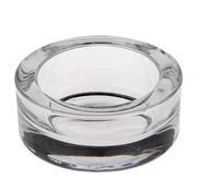 PAPSTAR Glazen kaarsen houder rond _ 83 mm x 39 mm glashelder voor Maxi theelichten