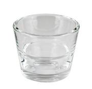 PAPSTAR Glazen kaarsen houder rond _ 80 mm x 65 mm glashelder 'Two in One'