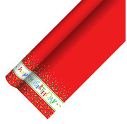 PAPSTAR Tafelkleed, papier 5 m x 1,2 m 'Happy Birthday' met beschermingslaag