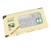 PAPSTAR Napperon, PV-Tissue mix 'ROYAL Collection Plus' 100 cm x 100 cm grijs 'Damascato'
