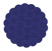 PAPSTAR Onderzetters rond _ 9 cm donkerblauw 9-lagig
