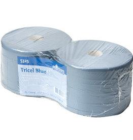 DJ GROUP TRICEL BLUE Poetspapier blauw rec 3-lgs