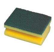 PAPSTAR Pannensponsen 4,4 cm x 9,5 cm x 7 cm geel met handgreep