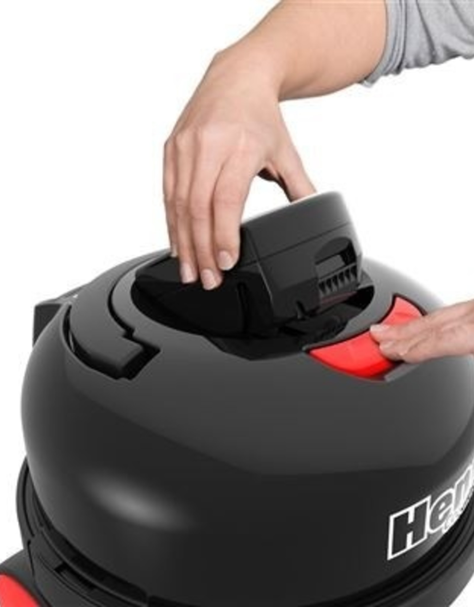NUMATIC Batterijstofzuiger Henry Cordless HVB 160 rood met kit AS29E