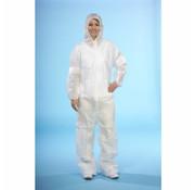 PAPSTAR Overalls, nonwoven wit XL, niet gecoat