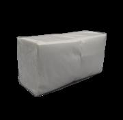 Servetten Wit 1-laags 1/4 vouw, 33x33cm