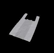 Hemddraagtas Wit HDPE 16my, 300+200x600mm