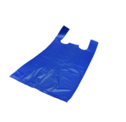 Hemddraagtas Blauw HDPE 21my300+200x600mm ,