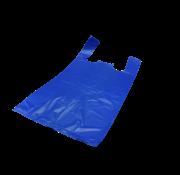Hemddraagtas Blauw HDPE 20my, 400+200x700mm