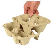To Go Draagtableau, karton 'To Go' 5 cm x 20 cm x 12 cm 'Click & Carry' voor 2 bekers
