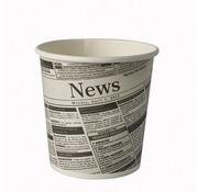 PAPSTAR Snackbekers met krantenprint, 'To Go bekers' (50 stuks) | 470 ML