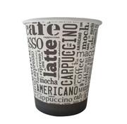 KARAHAN Kartonnen Koffiebeker ''Latte'' bedrukt 8oz