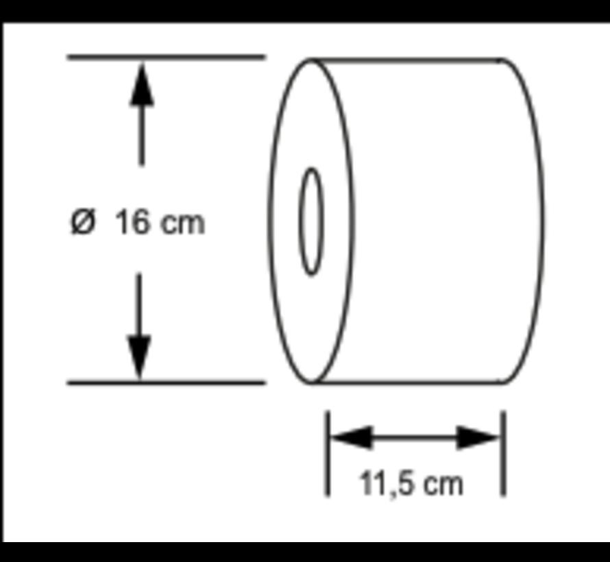 Minipoint toiletpapier dispenser in Wit / Zwart / Chroom
