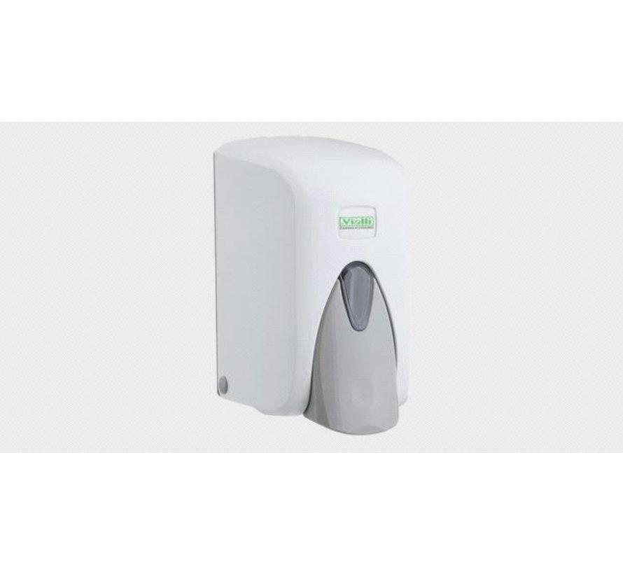 Zeepdispenser 500ml in Wit / Zwart / Chroom