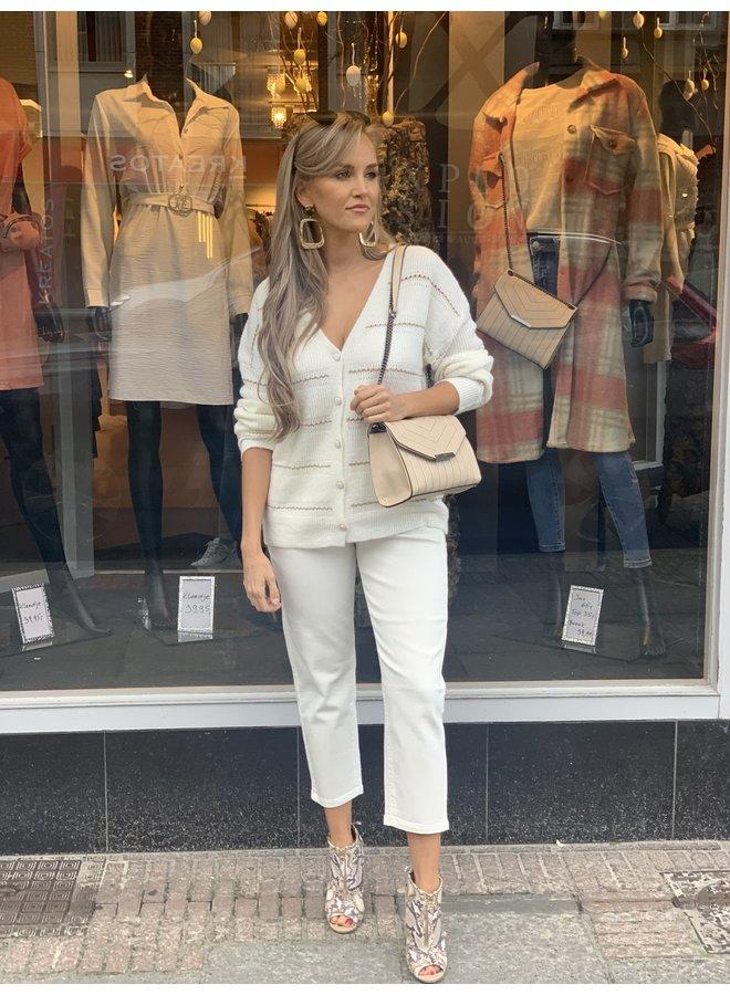 Toxik pants white