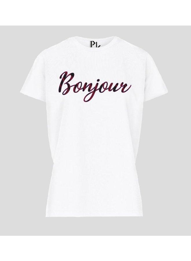 T-shirt bonjour white