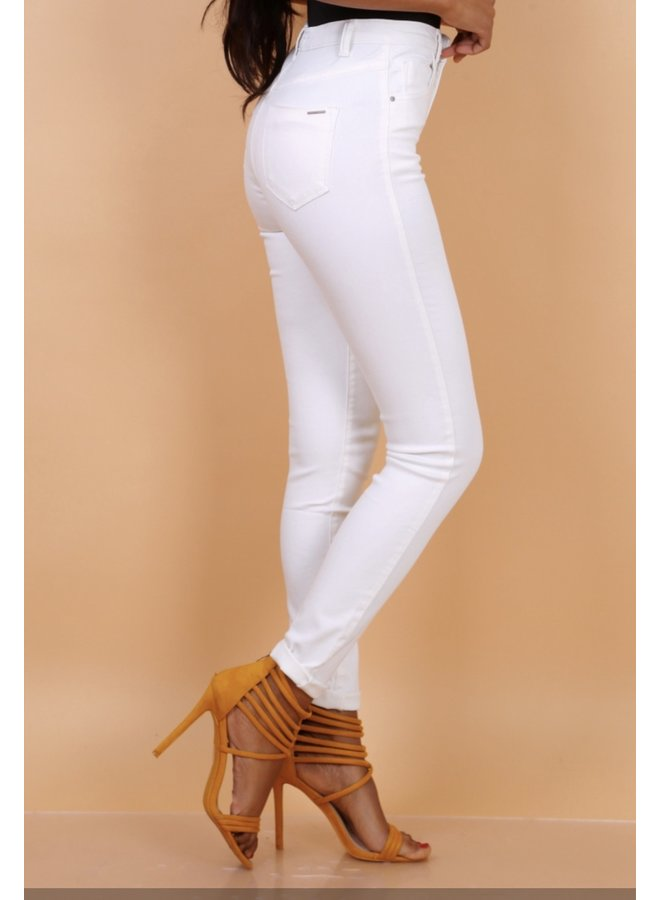 Toxik pants high waist white