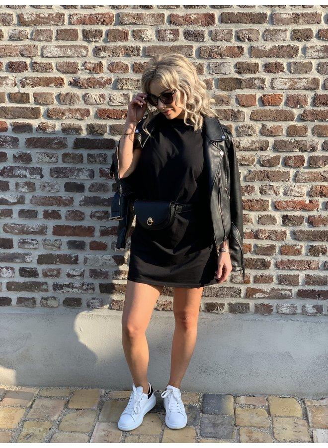 T-shirt dress Pinned By K black