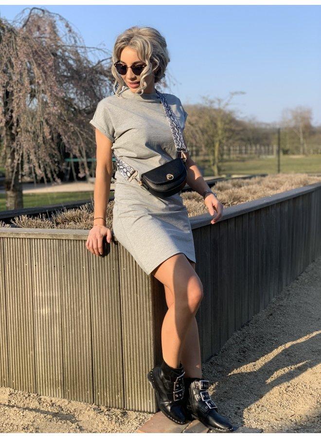 T-shirt dress Pinned by K grey