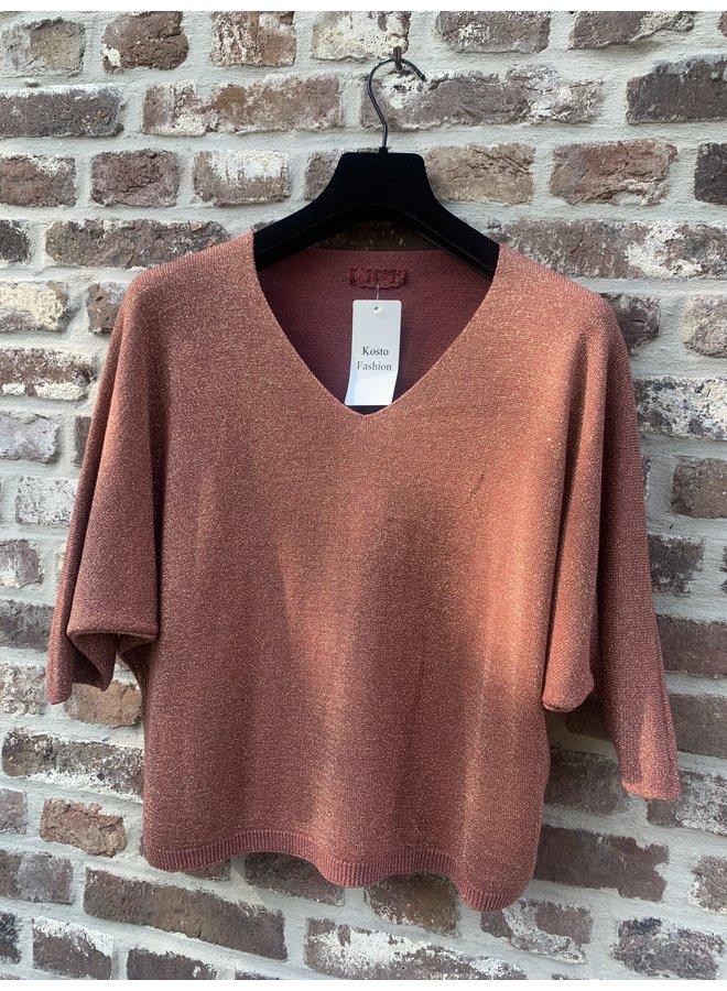 Basic Sweater roest lurex