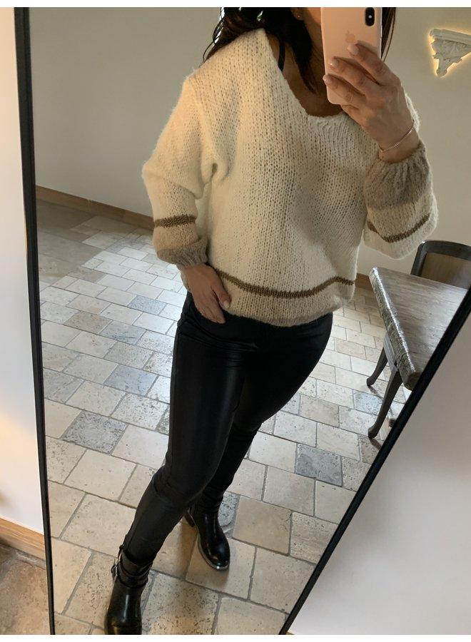 Sweater Léonore ecru